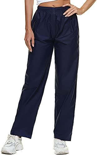 BenBoy Pantalon Imperméable Femme Respirant Séchage Rapide Coupe-Vent Résistant Pantalon de Pluie Réglable Randonnée,KZ5217W-Blue-XS