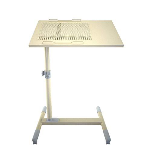 Mobiele tafel voor het verhogen van staande mobiele Verstelbare hoogte voor kantelen salontafel Presentatie Trolley Mobile Station Sofa nachtkastje Luie tafel met wielen Wiel Eenvoudig te monteren -A-56x35x (59-93) cm