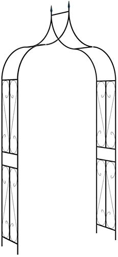 Relaxbx Outdoor Garden Arch Rose Arch Trellis Arbour Rose Arch Support Entry Garden Arbor For Climbing Plants,Wedding Archway Flowers Pergola Climbing Plants Party Decor,270 X 140 Cm