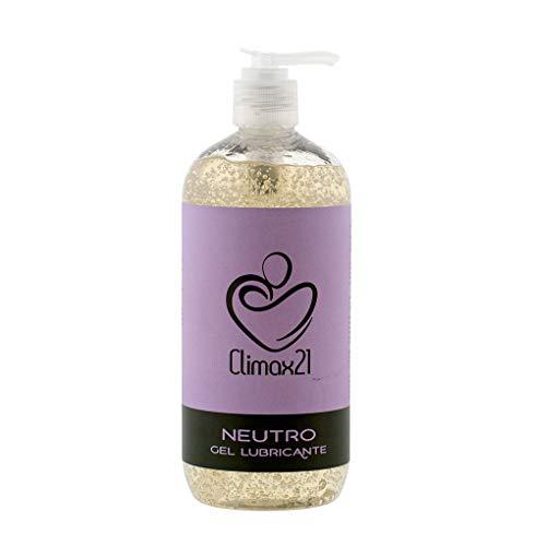 Lubricante Sexual Ecológico - Lubricante Base Agua - 500 ml - Neutro Sin Aroma - Apto para veganos - Con Agentes Hidratantes - Ingredientes Ecológicos