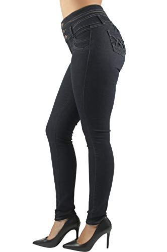 Colombian Design, High Waist, Butt Lift, Levanta Cola, Skinny Jeans in Black Size 3