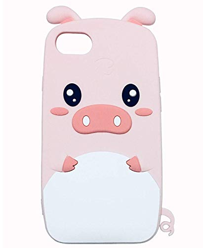 iPhone 6S Hülle, Anya 3D Cute Lovely Cartoon Animal Soft Rubber Silicone Back Shell Case Cover für iPhone 6 6S Ears Can Move Piglet Pig Pink