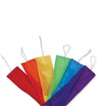CIM Drachen Zubehör – Combo Tails Rainbow (6er Set) – für Familiendrachen und Großdrachen – Länge: 6 x 4,5m