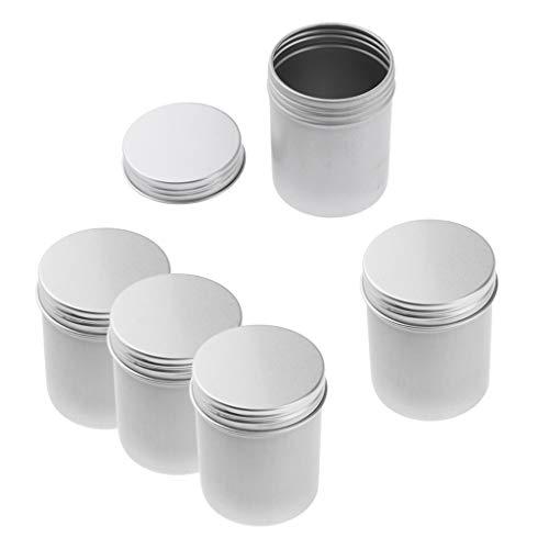 freneci 5 Piezas 80 Ml de Aluminio Bote de Lata Caramelos Cosméticos Bálsamo Bálsamo Tarro Recipientes para Macetas