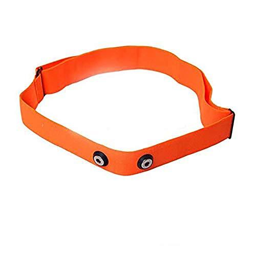Dingwen Ceinture de poitrine réglable pour moniteur de fréquence cardiaque Garmin Wahoo Polar Sport, orange