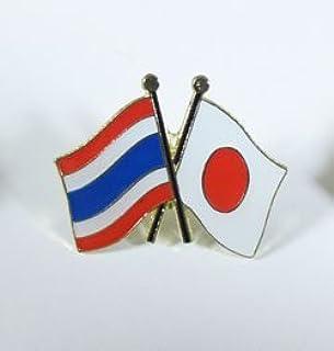 国旗ピンバッジ(日本・タイ友好旗)