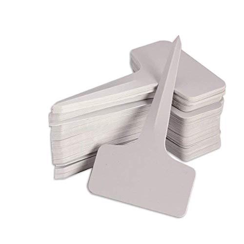 KINGLAKE 100Stk. Mini T-Form Plastik Pflanzenstecker Stecketiketten Beschriften Pflanzschilder Schilder 6CM * 10CM Sind Praktisch für AlleGärtner (Grau weiß)