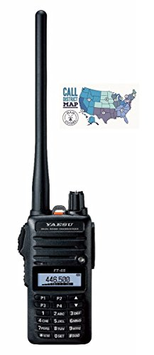 Bundle - 2 Items - Includes Yaesu FT-65R 5W VHF/UHF Dualband Handheld Transceiver and Ham Guides TM Quick Reference Card