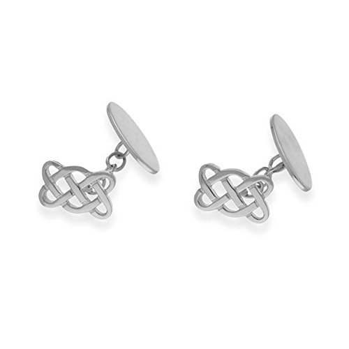 Ortak Men's Sterling Silver Cufflinks with Celtic Design-CL58
