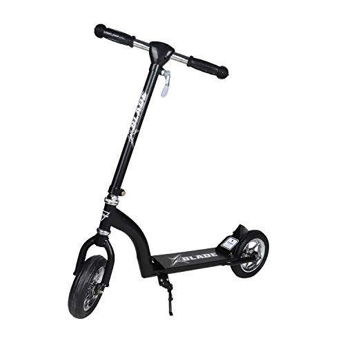 Fun Ride Kids Scooter, Xblade 2 Wheel Kick Scooters for Boys and Girls with Adjustable Height and Rear Suspension Brake 2 Wheels Skate Weight Capacity Upto 50 Kg, Ideal Baby Age 3 Years+ (Black)