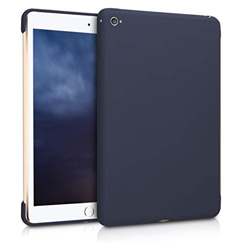 kwmobile Apple iPad Mini 4 Hülle - Tablet Cover für Apple iPad Mini 4 - Dunkelblau matt - Tab Case Silikon Schutzhülle
