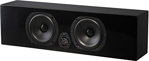 NHT Media Series 2-Way Slim Center Channel Speaker - Clean, Hi-Res Audio | Sealed Box | Aluminum Drivers | Single Unit, High Gloss Black