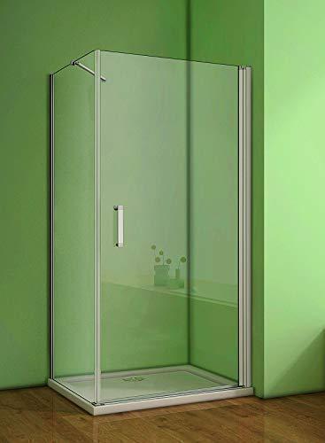 Duschkabine 80x80cm Duschabtrennung Duschtür Duschwand 5mm Sicherheitsglas