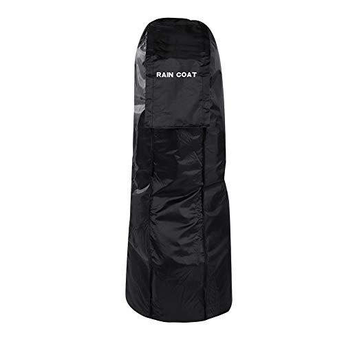 DEWIN Golftasche Regen-Abdeckung, Im Freien Golf Cart Bag wasserdichte Regenjacke Golf Regen Abdeckung Schutz Tragbare (Farbe : Black)