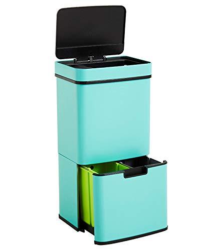 Homra Nexo Azul Claro - Cubo de basura y reciclaje grande co