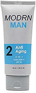 MODRN MAN All-in-One Anti Aging Men's Face Moisturizer with SPF | Premium Daily Face Lotion, After Shave and Sunscreen for Men | Natural Ingredients to Repair, Hydrate & Protect (1.35 oz)