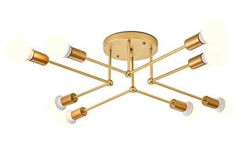 LED plafond kroonluchter, modern eenvoudige creatieve kroonluchters chroom goud metalen houder elegante mode plafondlamp kroonluchter verlichting, voor slaapkamer restaurant eettafel woningen balkon E27