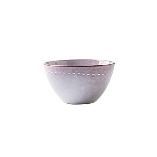 YYF Bol à nouilles en céramique rond nordique - nouilles/dessert/salade/légume vaisselle 4.2 à 6.5 pouces (Color : Purple, Taille : 10.8cm)