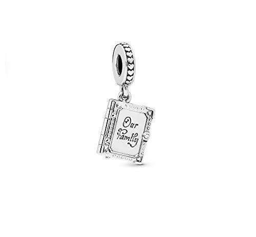 MiniJewelry - Ciondolo a forma di libro di famiglia, per bracciali, figlia, sorella, donna, fidanzata, mamma, regalo di compleanno