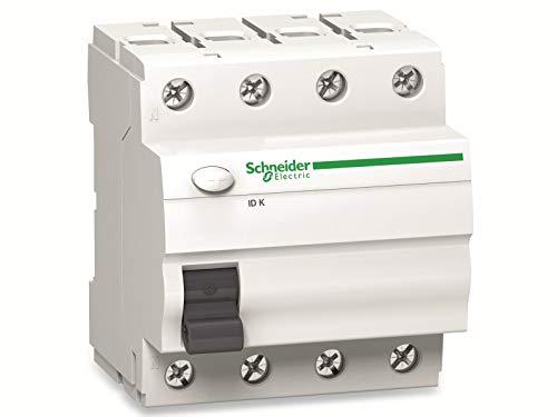 Schneider A9Z01440 Interruptor diferencial ID K, 4P, 40 A, 30 mA, Tipo A