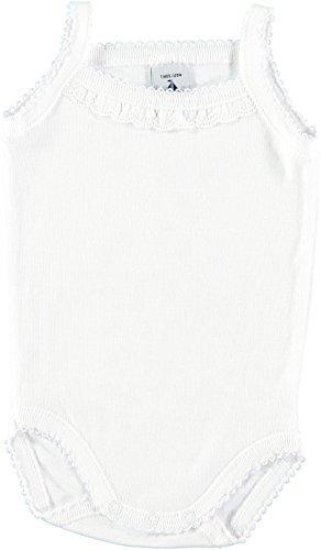 babidu 1145 Body Abito da Battesimo, Bianco, 86 cm (Taglia Produttore: 18) Unisex-Bimbi