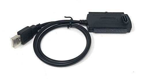 TECNO ADATTATORE CON ALIMENTATORE USB SATA PATA IDE COLLEGA HARD DISK LETTORI 2,5 3,5