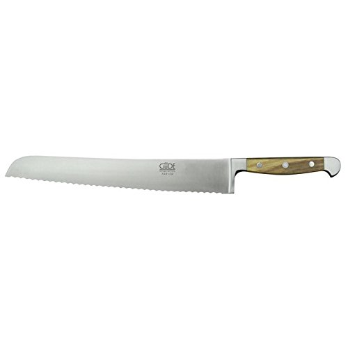 Güde Alpha Olive Series Hand Forged Hand Sharpened Stainless Steel Olive-Wood Handle Bread Knife, 12.5-Inch
