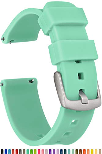 GadgetWraps 20mm Gizmo Watch Silicone Watch Band Strap with Quick Release Pins - Compatible with Gizmo Watch, Amazfit, Samsung, Pebble - 20mm Quick Release Watch Band (Mint Green, 20mm)