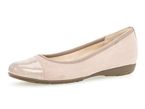 Gabor Damen Ballerinas 24.161.44, Frauen Flats,Sommerschuh,klassisch elegant,antikrosa,39 EU / 6 UK