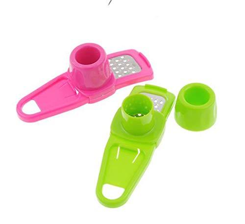 2 piezas Multi Funcional Mini Rallador de Ajos,Jengibre Ajo Molienda rallador Planer Slicer Cortador Cocinar herramienta de la cocina