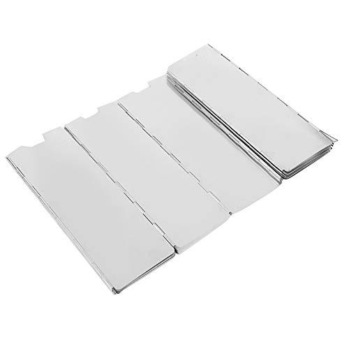 Demeras Parabrisas de 16 piezas fácil de fijar 24 x 9 cm para estufa