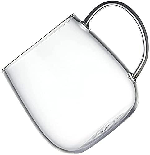 GDEVNSL Bienvenido a Personalizar Taza de Vidrio Transparente 500 ml de Agua de Vidrio Taza de Jugo Leche Té Taza de Agua Taza Transparente Tazas de café para Latte A