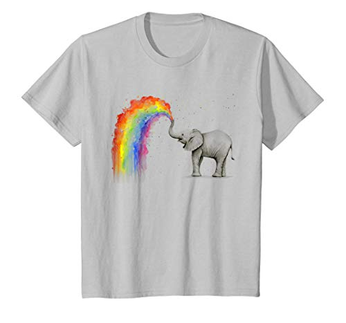 Elephant Spraying Rainbow T Shirt Baby Elephant Watercolor - T Shirt For Men and Woman.