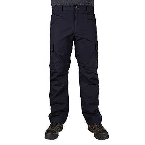LA Police Gear Men's Urban Ops Tactical Cargo Pants - Elastic WB - YKK Zipper - Navy - 36 x 32