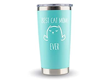 Crazy Cat Lady Gifts for Women Cat - Cat Mom Travel Mugs/Tumbler - 20oz Mug for Coffee/Tea- Funny Gift Idea for Cat Lovers Best Ever Themed Gifts For Her Birthday