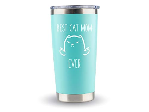 Crazy Cat Lady Gifts for Women Cat - Cat Mom Travel Mugs/Tumbler - 20oz Mug for Coffee/Tea- Funny Gift Idea for Cat Lovers, Best Ever, Themed Gifts, For Her, Birthday