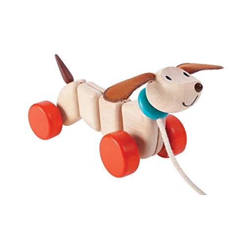 PlanToys- Cachorro Feliz, Juguete de Arrastre (5101)