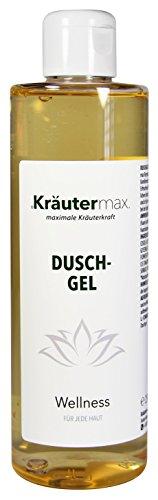Wellness Duschgel Naturkosmetik auch als Shampoo mit Mandarine Öl und Aloe Vera Gel 3 x 250 ml