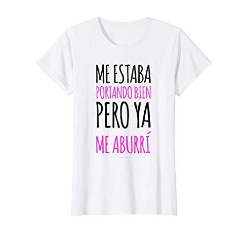 Mujer Ya Me Aburrí Camiseta Mujer Divertida Manga Corta Originale Camiseta