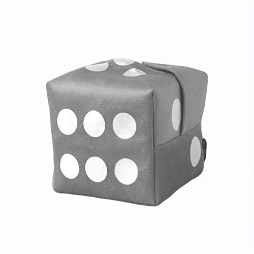 DWQ Tapa de Caja de Tejido de Dados Tenedor de Caja de Tejido Cuadrado, Caja de Almacenamiento de Tejido Facial Creativo para Sala de Estar de Sala de Estar (Color : Gray)