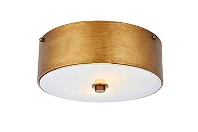 2-Light Flush Mount in Vintage Gold