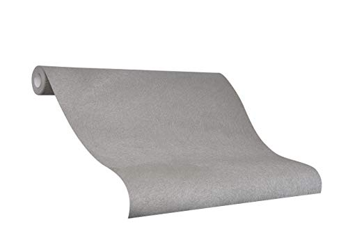 Tapete Grau Uni - Ideal für Wohnzimmer - Colani Visions - Made in Germany - 10,05m X 0,70m - 53320