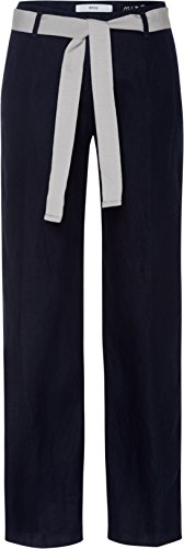 BRAX Damen Hose Maine Belt 78-2207, Blau (Navy 22), W36L32