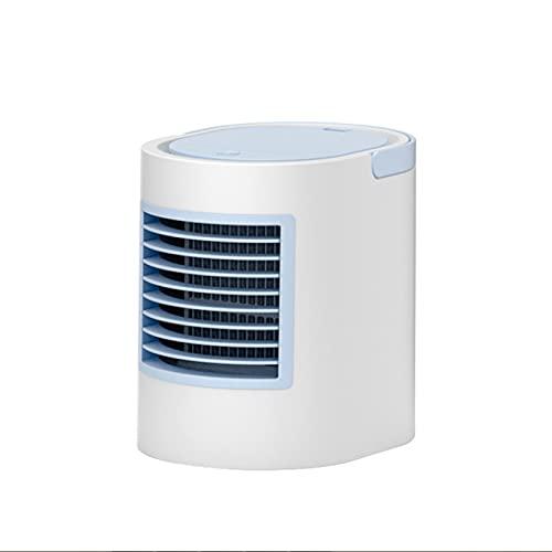 Gaoweipeng Silencioso USB Climatizador Evaporativo Aire Acondicionado Portatil Mini Enfriador De Aire Frío Dobles Ventiladores Humidificador 3 velocidades para Dormitorio Oficina Al Aire Libre,Azul