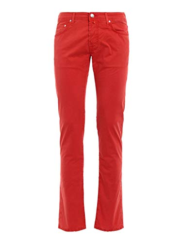 Jacob Cohen Luxury Fashion Uomo PW62206510661 Rosso Elastan Pantaloni | Stagione Permanente