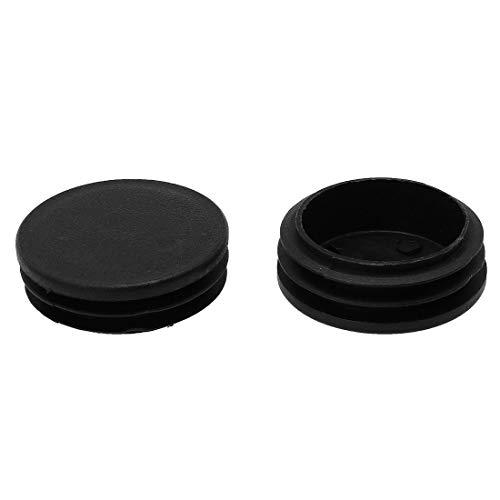 DealMux 1 7/8'48 mm OD tubo redondo de plástico acanalado insertos tapas de cubierta de extremo 2 piezas, 1,81' -1,89'de diámetro interior, protector de escritorio para silla de muebles de piso