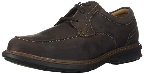 Clarks mens Rendell Walk Oxford, Dark Brown Leather, 9.5 US