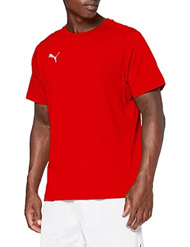 PUMA Liga Casuals T-Shirt Homme Puma Rouge/Puma Blanc FR : L (Taille Fabricant : L)