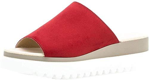 Gabor 23.613 Damen ClogsPantoletten,Clogs&Pantoletten, Frauen,Pantolette,Hausschuh,Pantoffel,Slipper,Slides,Best Fitting,Cherry,6.5 UK