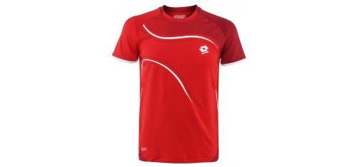 Lotto Sport LED - Camiseta para Hombre Rojo Flame/Cherry Talla:Medium